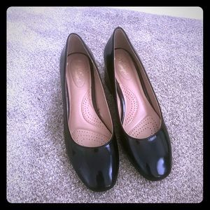 Patent leather block heels - NWOT
